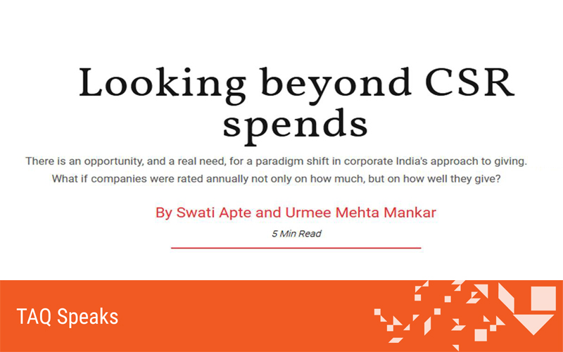 Looking beyond CSR spends